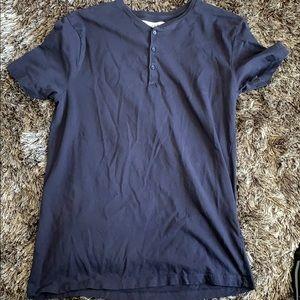 Zara navy blue shirt